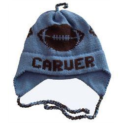 Personalized Football Knit Ear Flap Hat