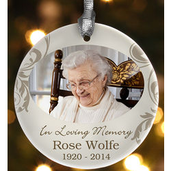 In Loving Memory Personalized Photo Ornament