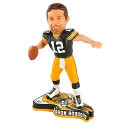 Aaron Rodgers Green Bay Packers 2013 Pennant Base Bobblehead