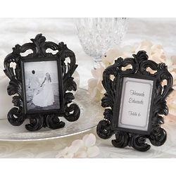 Black Baroque Elegant Place Card Holder and Photo Frame