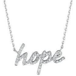 Diamond Hope Necklace in 14 Karat Gold
