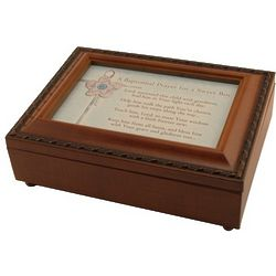 Boy's Baptismal Prayer Music Box