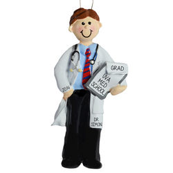 Male Doctor Medical School Graduation Ornament