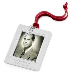 Angel Wing Charm Photo Picture Frame Christmas Ornament