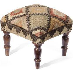 All-Natural Handmade Kilim Style Footstool
