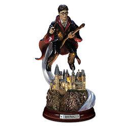 Harry's Magical Flight Illuminated Harry Potter Sculpture