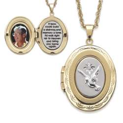 Memorial Locket Pendant with Diamond Accent