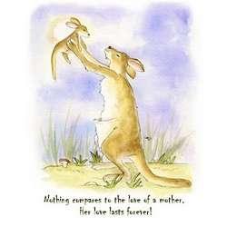 Kangaroo's Love Fine Art Print
