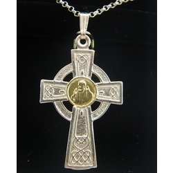Cross with Padre Pio Inset