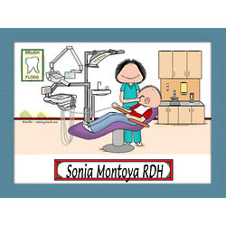 Personalized Dental Assistant / Hygienist Cartoon