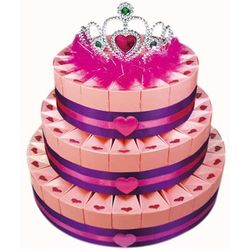 Three Tier Tiara Sweetheart Favor Box Cake Kit