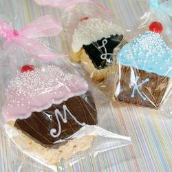 Monogram Cupcake Rice Krispy Treat