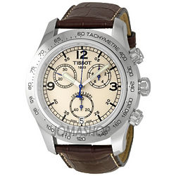 Mens V8 Steel Chronograph Brown Watch