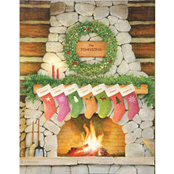 Personalized Family Christmas Wall Art