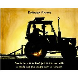 Plowing the Fields Personalized Art Print