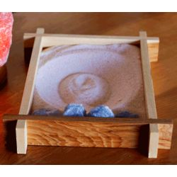 So Therapeutic Hand Made Bamboo Himalayan Salt Zen Garden