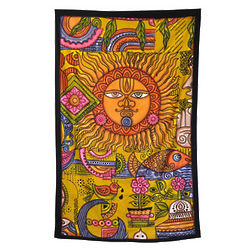 Sun Ohm Collage Tapestry