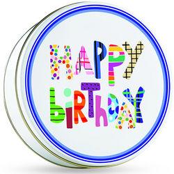 Happy Birthday Tin with Gourmet Cookies