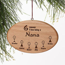 Personalized Reasons Why Wood Christmas Ornament