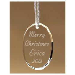 Personalized Make Your Own Oval Ornament