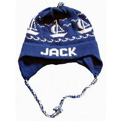 Personalized Sailboats Ear Flap Hat