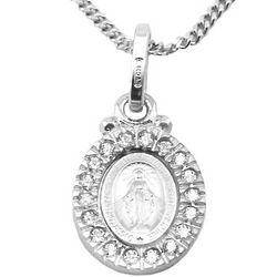 Sterling Silver Swarovski Miraculous Medal