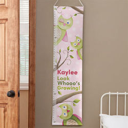 Owl Personalized Kids Growth Chart