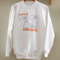 Class Of Personalized Signature Sweatshirt