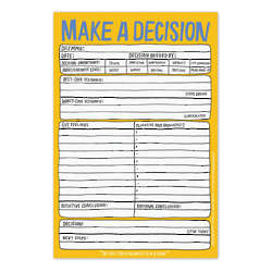 Make a Decision Hand-Lettered Notepad