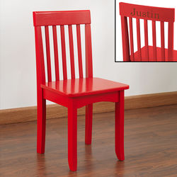 Kid's Personalized Red Avalon Chair
