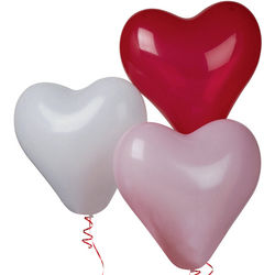 100 Latex Heart Balloons