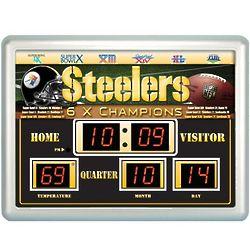 NFL Team Scoreboard Wall Clock