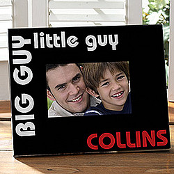 Big Guy Little Guy Personalized Photo Frame