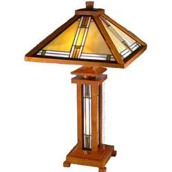mission style wood table lamp. Black Bedroom Furniture Sets. Home Design Ideas