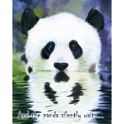 The Silent Panda Personalized Print