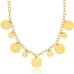 Fancy Disc Necklace in 14K Yellow Gold