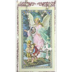 Pearl Rosary and Prayer Card