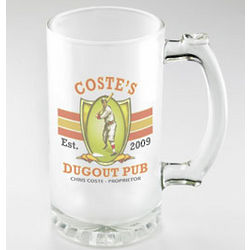 Dugout Design Personalized Frosted Beer Mug