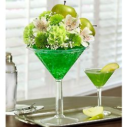 Apple Martini Bouquet of Flowers