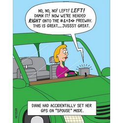 GPS Spouse Mode Funny Greeting Card