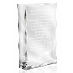 Love Never Fails Lucite Plaque