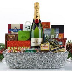 Champagne Christmas Gift Basket
