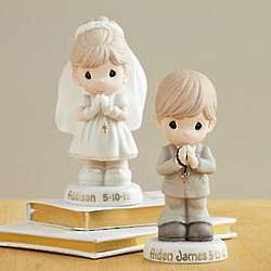 Personalized Precious Moments Communion Boy or Girl Figurine