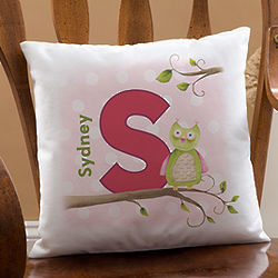 Owl About You Personalized Kid's Decorative Pillow