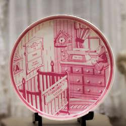 Porcelain Personalized Birth Keepsake Plate