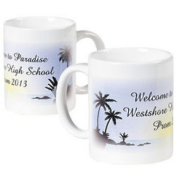 Personalized Luau Coffee Mug