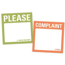 Complaint and Please Mini Sticky Notes