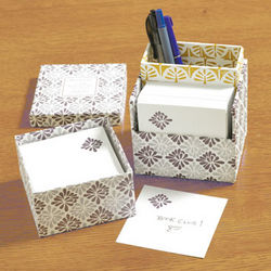 Lilac Spray Letterpress Note Pod