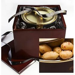 Artisan Peppercorn Blistered Virginia Peanuts In Wooden Gift Box