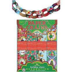 Paper Chains Ribbon Kid's Christmas Decor Art Project